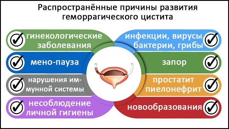 Причины геморрагического цистита