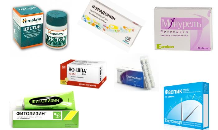 Медикаменты при цистите